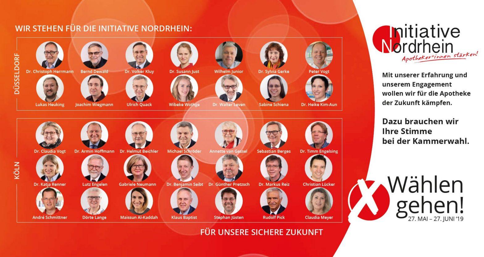 Initiative Nordrhein - Karte zur Kammerwahl